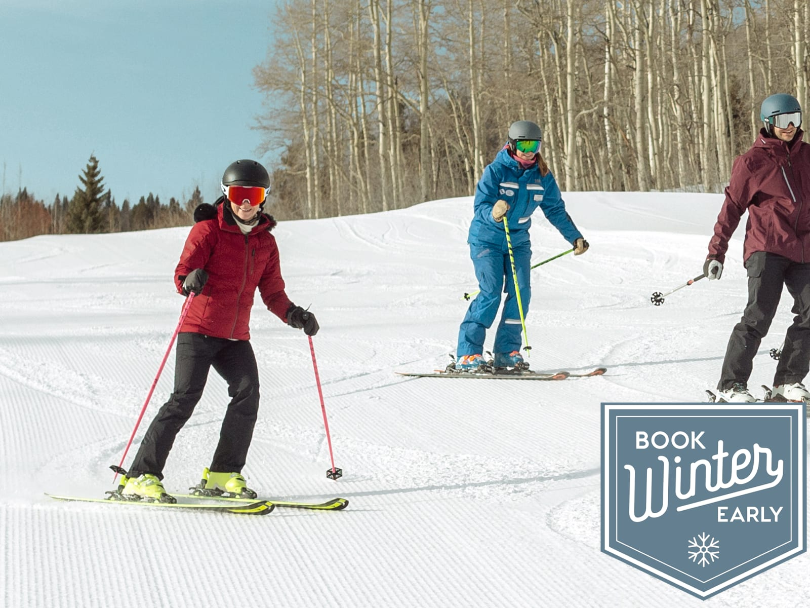 Family Skiing with Instructor