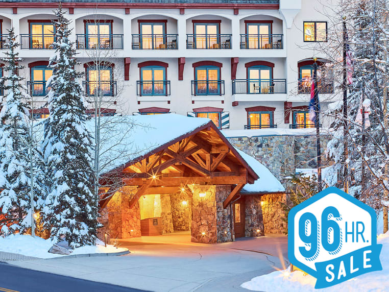 Vail Marriot on a snowy winter evening