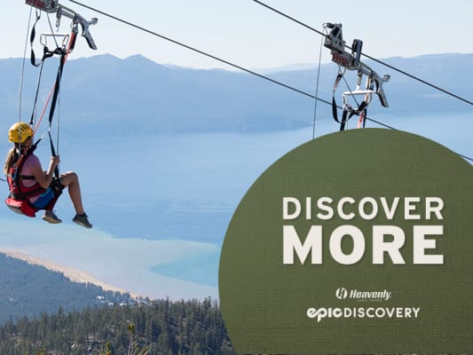 Zip Lines above Lake Tahoe at Heavenly California
