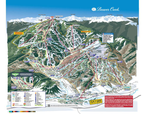 Skiing Virginia Map.Trail Maps Beaver Creek Resort