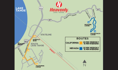 Getting Here and Parking | Heavenly Ski Resort