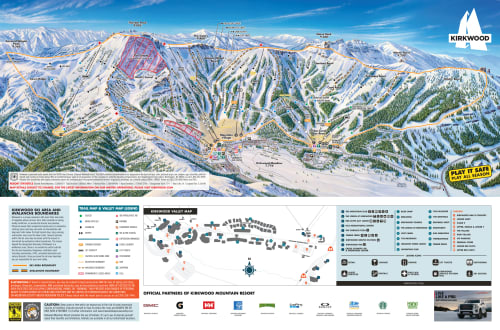 Winter Trail Map Kirkwood Ski Resort
