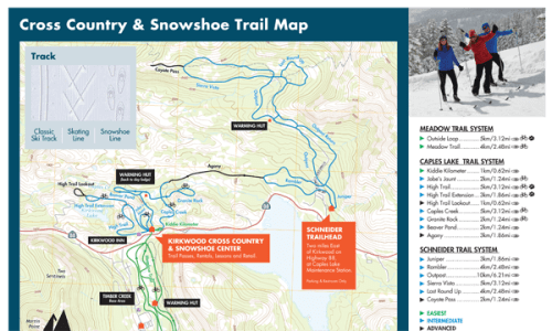 Winter Trail Map | Kirkwood Ski Resort on