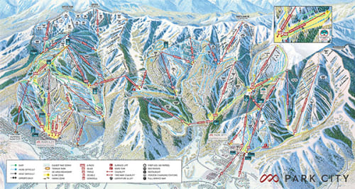 Trail Map Park City Mountain Resort - Eastern-us-ski-resorts-map