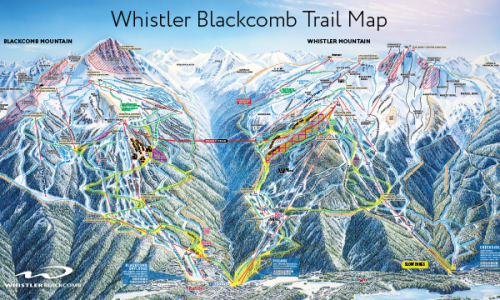 Black Hills Elevation Map.Trail Maps Whistler Blackcomb
