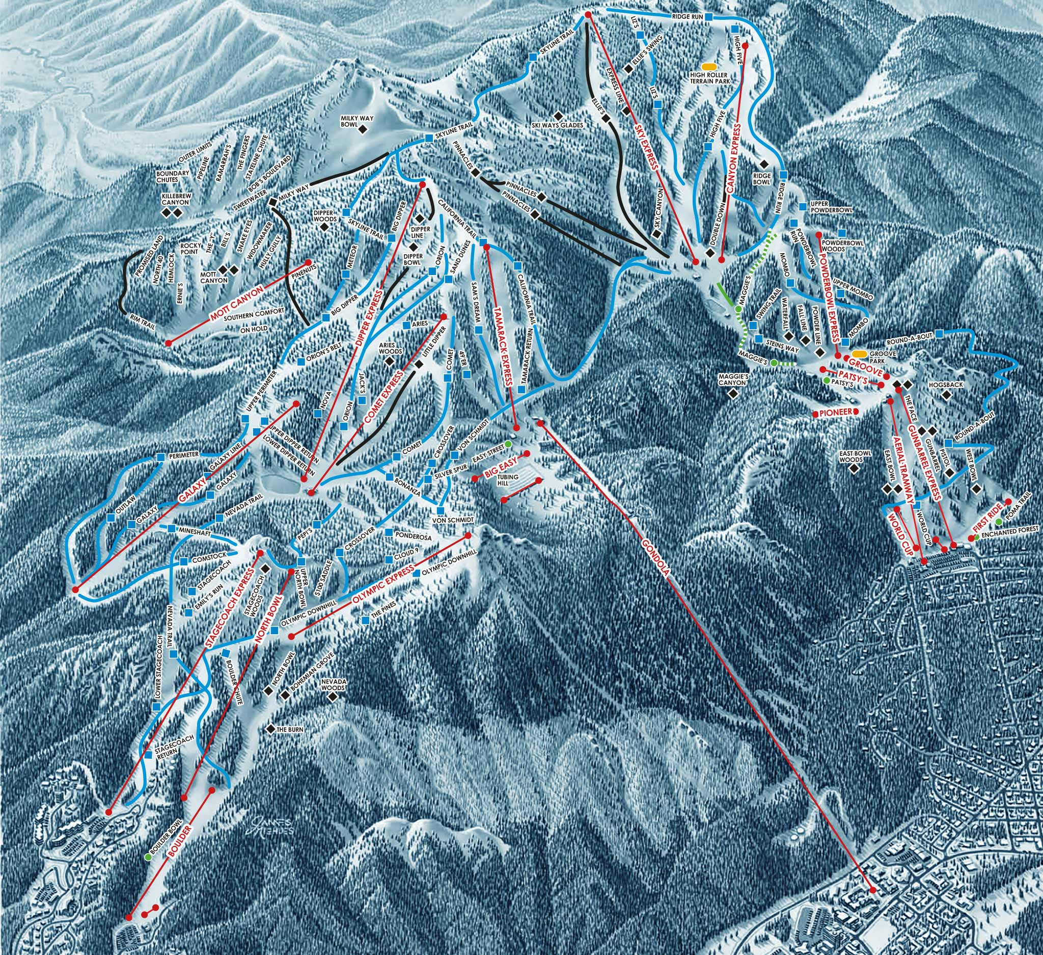 Trail Map | Heavenly Ski Resort on