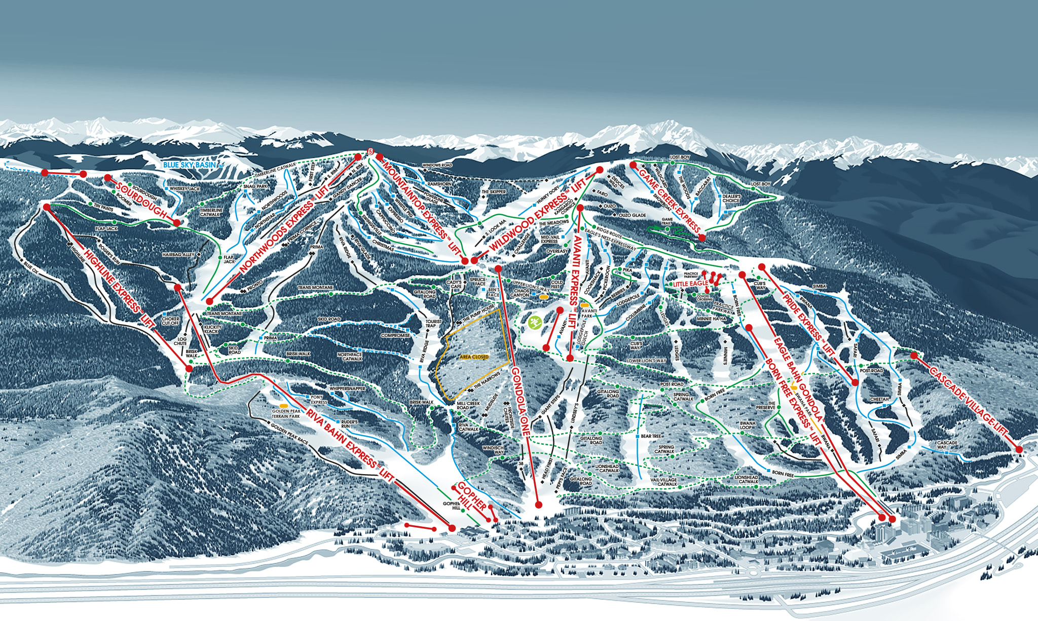 Vail Mountain Map Vail Trail Map | Vail Ski Resort