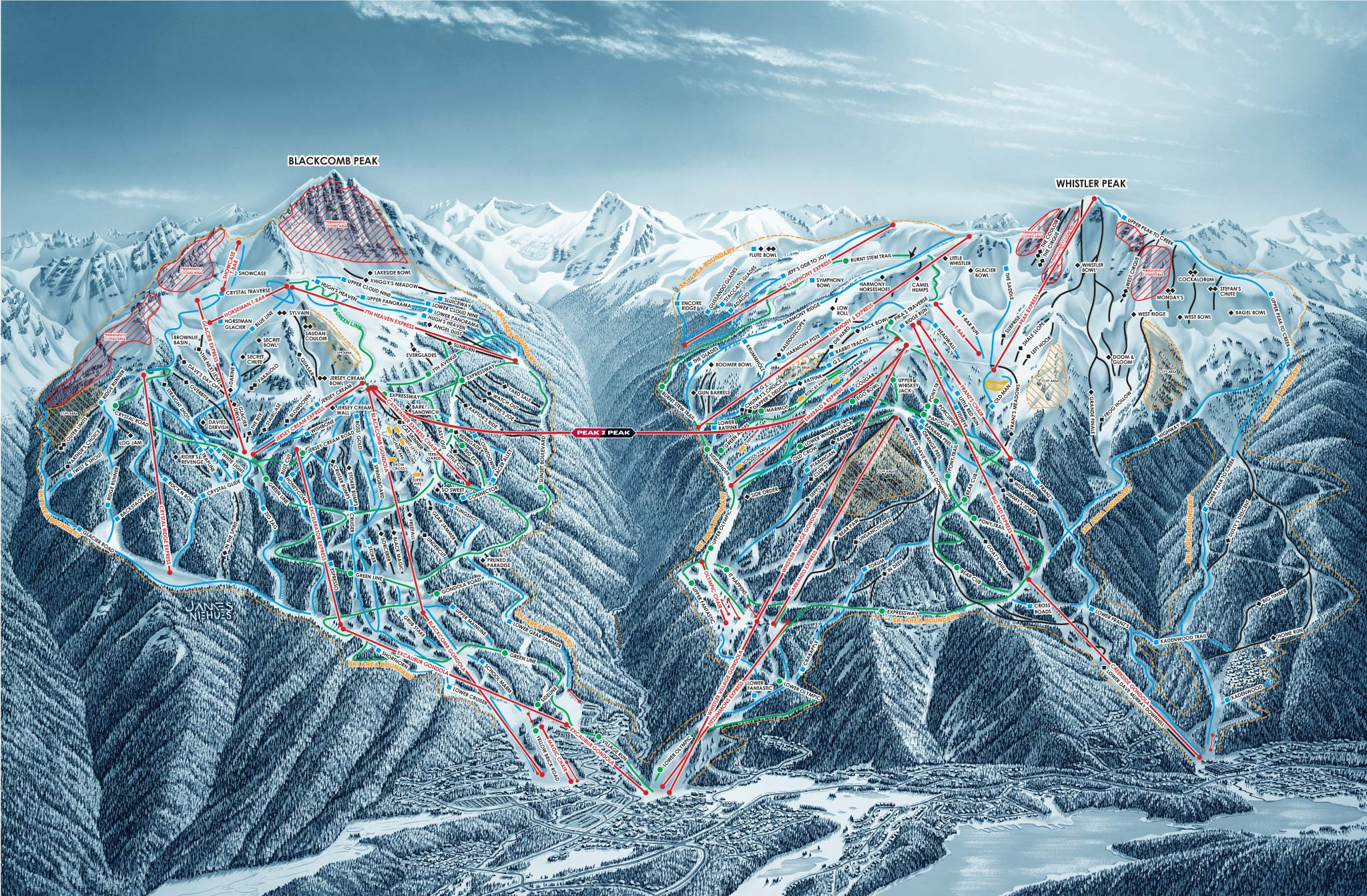 Trail Map Whistler Blackcomb