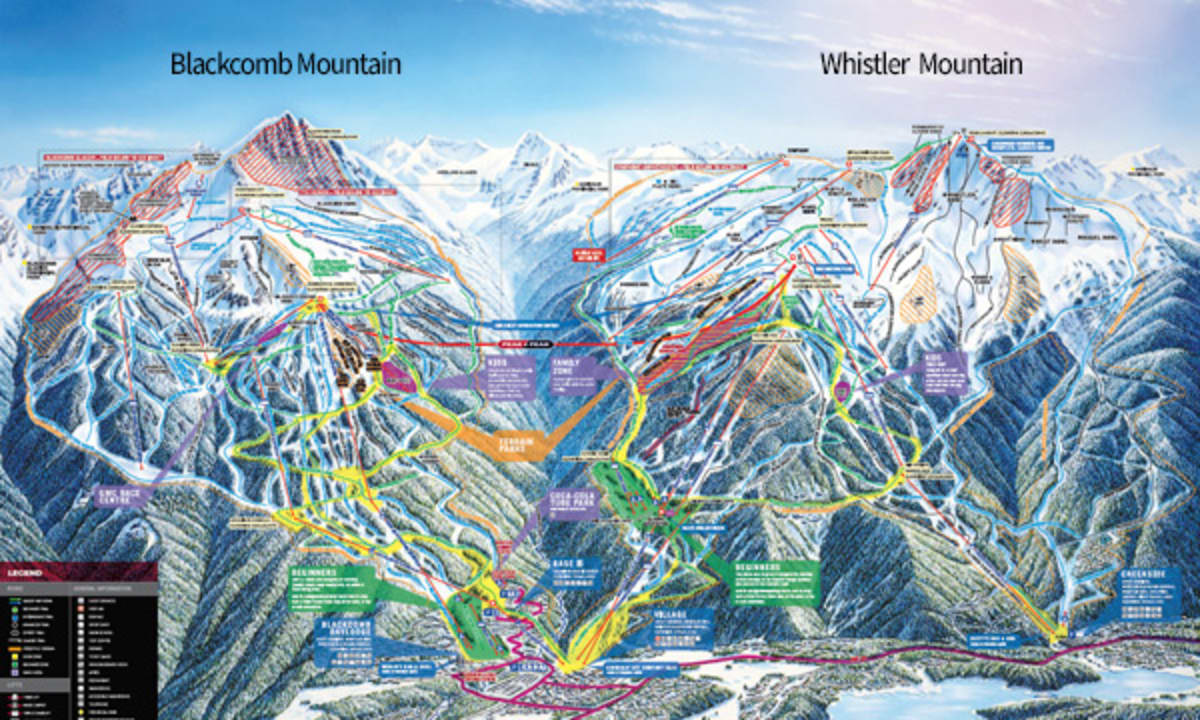 Map Of Whistler In Canada Trail Maps | Whistler Blackcomb