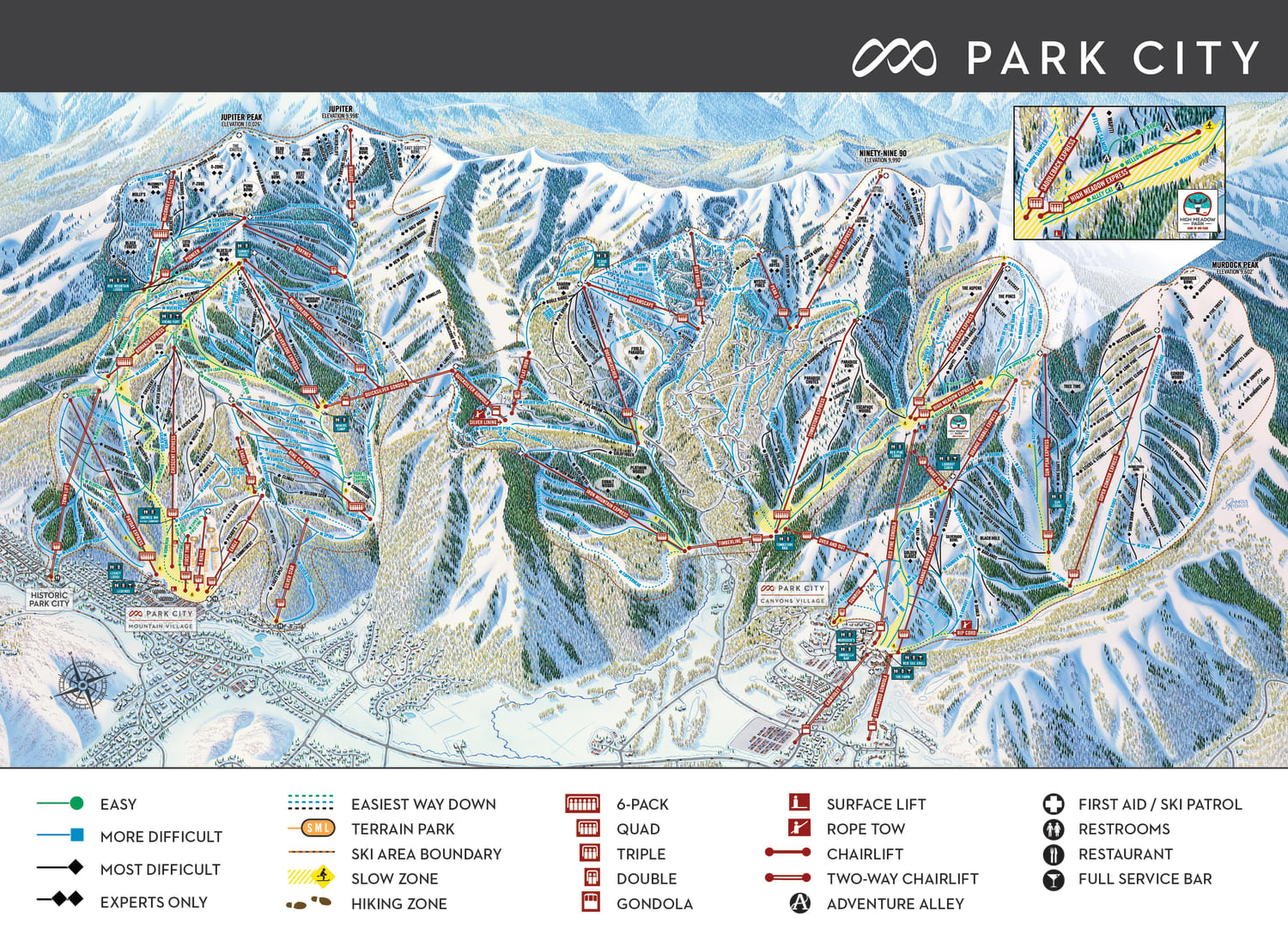 Trail Map Park City Mountain Resort