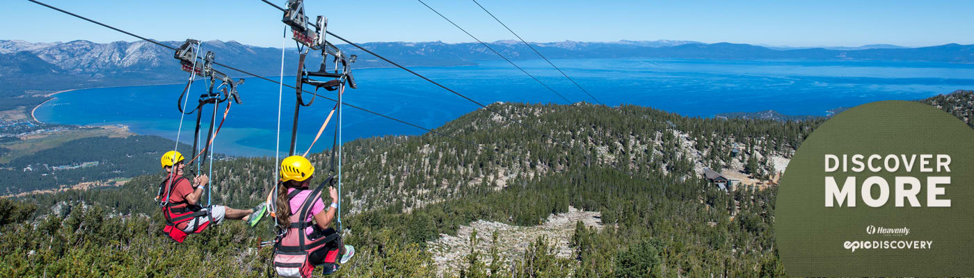 Zip Lining at Heavenly California