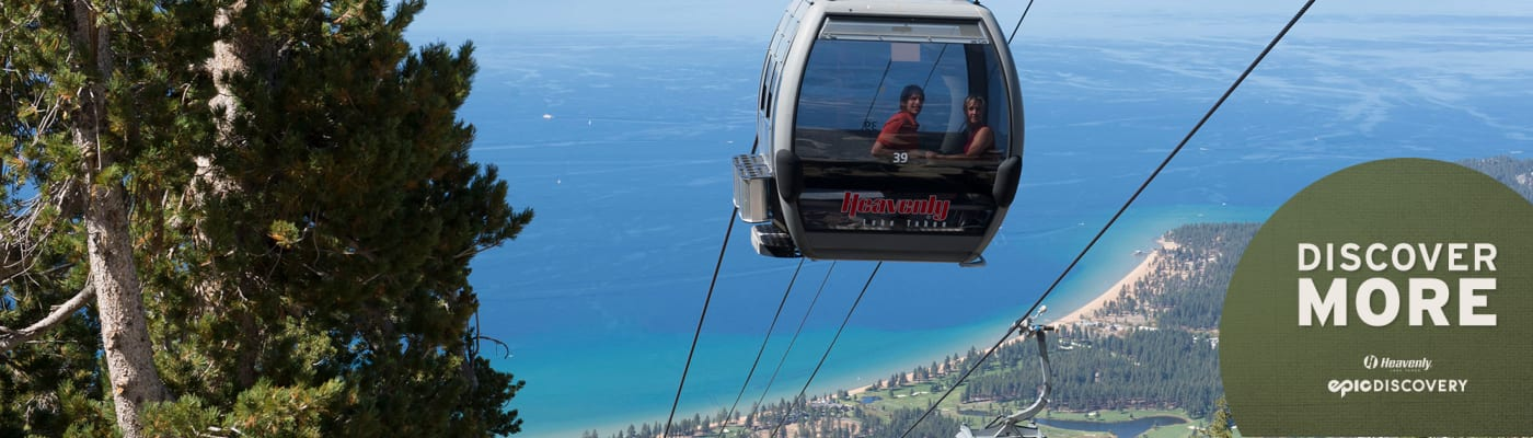 Gondola above Lake Tahoe at Heavenly California