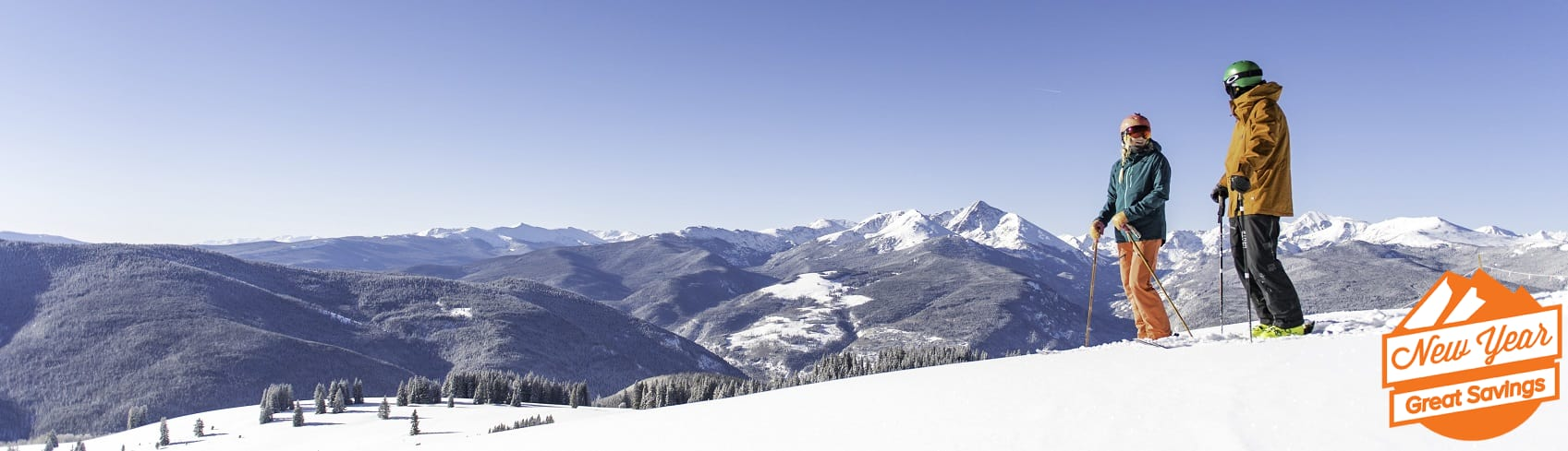 Couple Skiing on Vail Mountain